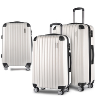3 Size Hard Suitcase Travel Luggage Set in White