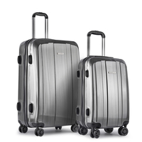 2 Size Premium Hard Suitcase Luggage Set in Grey