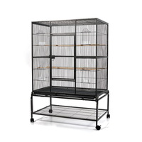 Large Wheeled Aviary Bird Cage w/ 4 Perches 140cm