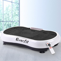 Fitness Vibration Platform w/ Wheels in White 1000W