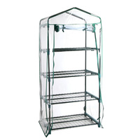 Transparent PVC Portable Greenhouse with 4 Shelves