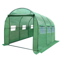 Outdoor Portable Greenhouse with PE Cover - 3x2m