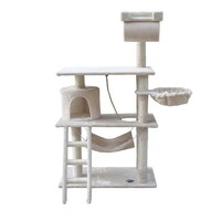Cat Scratching Post Tree House Condo in Beige 141cm