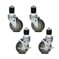Set of 4 Multipurpose Galvanized Iron Caster Wheels