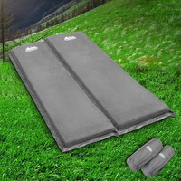 10cm Thick Double Self Inflating Camp Mat in Grey