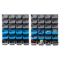 48 Bin Wall Mounted Workshop Storage Rack