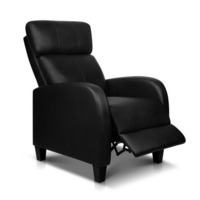 Superior Faux Leather Adjustable Armchair Recliner In Black