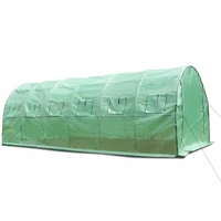 Steel Frame Garden Greenhouse w/ PE Mesh Cover 6x3m