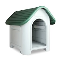 Heavy Duty Plastic Dog Kennel House in Green 66cm