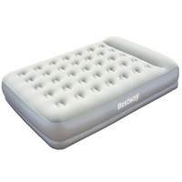 Bestway Queen Inflatable Bed w Pillow in Light Grey