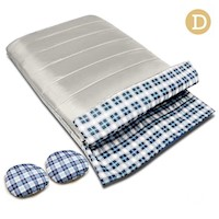 Convertible Double Envelope Sleeping Bag in Cream