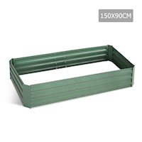 Galvanised Raised Garden Bed in Green 150x90x30cm