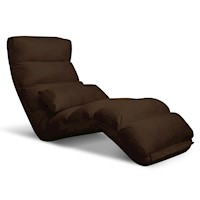 75 Degree Adjustable Floor Chair Lounge in Brown