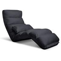 75 Degree Adjustable Floor Chair Lounge in Charcoal