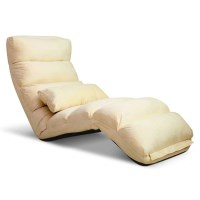 75 Degree Adjustable Floor Lounge Chair in Taupe