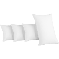 Set of 2 Firm and 2 Medium Polyester Fibre Pillows
