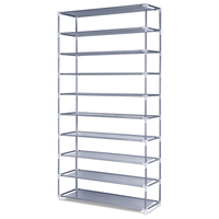 10 Tiers 50 Pair Stackable Shoe Storage Rack 159cm