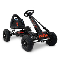 Kids Ride On Toys Push & Pedal Go Kart Car in Black