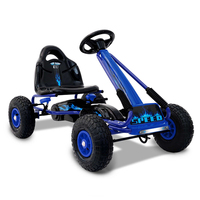 Kids Ride On Toys Push & Pedal Go Kart Car in Blue