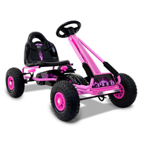 Kids Ride On Pedal Go Kart Car w/ Rubber Tyres Pink