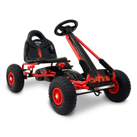 Kids Ride On Toys Push & Pedal Go Kart Car in Red