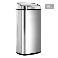 Stainless Steel Motion Sensor Rubbish Bin 68L