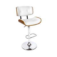 Square & PU Swivel Gas Lift Bar Stool White