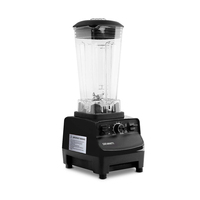 2-in-1 BPA Free Food Processor & Blender Black 2L
