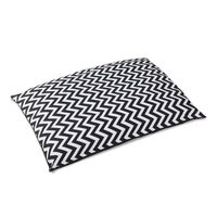 XLarge Washable Heavy Duty Pet Bed in Wavy Stripe