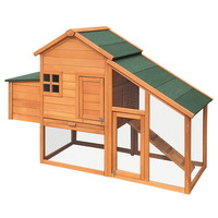 Double Rabbit Guinea Pig Pet Hutch w/ Sliding Tray