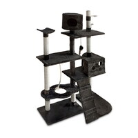 Multi-Level Cat Scratching Tree Post in Grey 170cm