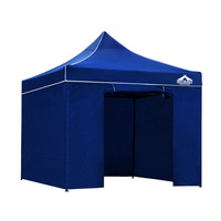 Instahut Pop Up Gazebo Hut w/ Sandbags 3x3m - Blue