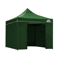 Instahut Pop Up Gazebo Hut w/ Sandbags in Green 3x3