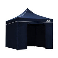 Instahut Pop Up Gazebo Hut w/ Sandbags 3x3m - Navy