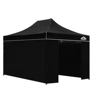 Instahut Pop Up Gazebo Hut w/ Sandbags 3x4.5m Black