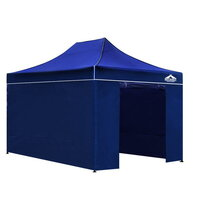 Instahut Pop Up Gazebo Hut w/ Sandbags 3x4.5m Blue
