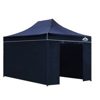 Instahut Pop Up Gazebo Hut w/ Sandbags in Navy 3x4.
