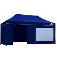 Instahut Pop Up Gazebo Hut w/ Sandbags 3x6m - Blue