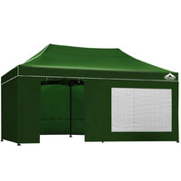 Instahut Pop Up Gazebo Hut w/ Walls 3x6m - Green