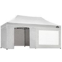 Instahut Pop Up Gazebo Hut w Sandbags in White 3x6m