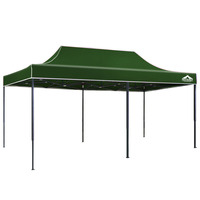 Instahut Pop Up Gazebo Hut w/ Sandbags 3x6m - Green