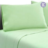 4pc King Size Soft Microfibre Sheet Set in Green