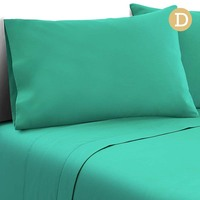 4pc Double Size Soft Microfibre Sheet Set in Aqua