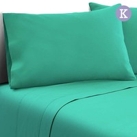 4pc King Size Soft Microfibre Sheet Set in Aqua