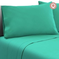 4pc Queen Size Soft Microfibre Sheet Set in Aqua