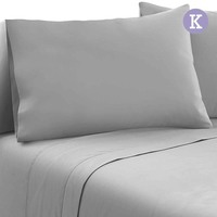 4pc King Size Soft Microfibre Sheet Set in Grey