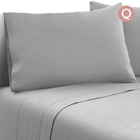 4pc Queen Size Soft Microfibre Sheet Set in Grey