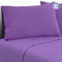 4pc King Size Soft Microfibre Sheet Set in Purple