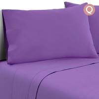 4pc Queen Size Soft Microfibre Sheet Set in Purple