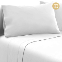 4pc Double Size Soft Microfibre Sheet Set in White